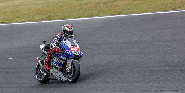 """Jorge Lorenzo, Factory Yamaha Racing"" by Corentin Foucaut is licensed under CC BY-ND 2.0"