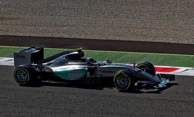 """Formel 1 - Nico Rosberg in his Mercedes"" by wolf4max is licensed under CC BY-NC-ND 2.0"