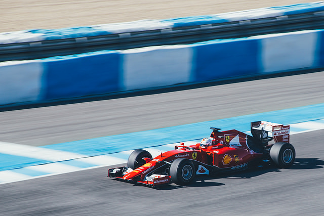Ferrari testing at Jerez