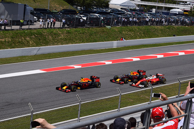 Red Bull and Ferrari